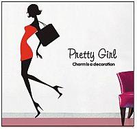 Samolepka na zeď Pretty girl - nalepimeto