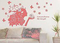 Samolepka na zeď rozkvetlá žena - nalepimeto