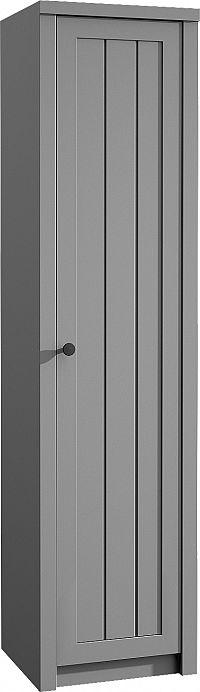 Šatní skříň Provence S1D, šedá