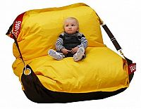 Sedací pytel BeanBag duo-brown-yellow