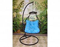 Závěsné relaxační křeslo POHODA, modrý sedák