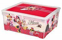 CURVER Plastový box s víkem TEXTILE 18,5 l - Minnie