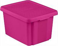 CURVER Úložný box s víkem 26L - fialový R41143