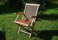 Divero 2159 Skládací židle z týkového dřeva