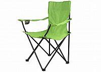 Divero 54 Skládací židle s držákem - světle zelená