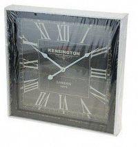 Dřevěné nástěnné hodiny 40 x 40 cm - ČERNÁ AM35257
