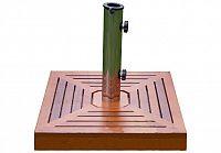 Garthen 1499 Stojan na slunečník - žula/nerezová ocel/dřevěné obložení, 40 kg