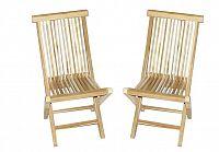 Garthen 2151 Skládací židle z týkového dřeva, 2 kusy