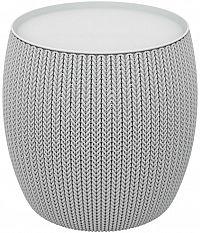 KNIT SINGLE TABLE (COZIES stolek) šedý