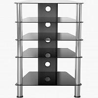 MAX 1346 Hifi stolek 88 x 61 x 52 cm bezpečnostní sklo