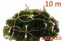 Nexos 2140 Vánoční LED osvětlení 10 m s časovým spínačem - teple bílé, 100 diod