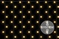 Nexos 2182 diLED světelný závěs - 200 LED teple bílá