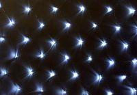 Nexos 39401 Vánoční osvětlení - LED světelná síť 2 x 2 m - studená bílá 160 diod