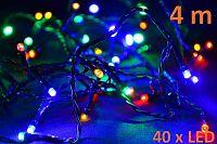 Nexos 5947 Vánoční LED osvětlení 4m - barevné, 40 diod