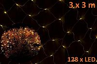 Nexos 804 Vánoční LED světelná síť 3 x 3 m - teplá bílá, 128 diod