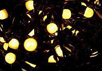 Nexos Trading GmbH & Co. KG 28572 Vánoční LED osvětlení 20 m - teple bílá, 200 MAXI LED diod