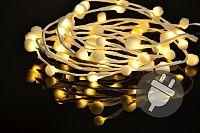 Nexos Trading GmbH & Co. KG 33482 Vánoční LED osvětlení - sněhové vločky - 48 LED, teplá bílá