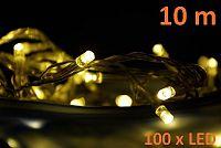 Nexos Trading GmbH & Co. KG 808 Vánoční LED osvětlení 10m - teple bílé, 100 diod