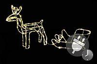 Nexos Trading GmbH & Co. KG Svítící vánoční sob - světelná dekorace 85 cm D42990