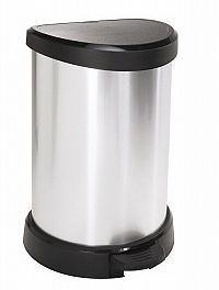 Odpadkový koš pedálový DECOBIN 20l stříbrná CURVER
