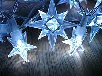 OEM D01006 Vánoční LED osvětlení - hvězdy modré 4 m