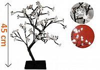OEM Dekorativní LED osvětlení - strom s květy - 45 cm, studená bílá D28300