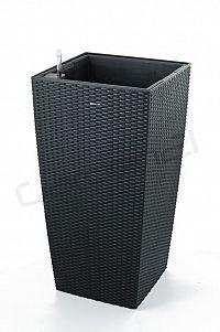 Samozavlažovací G21 Linea ratan big černý 76 x 39 x 30,5 cm