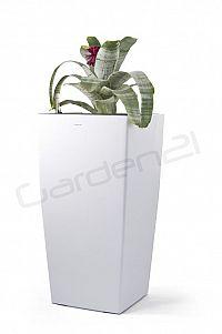 Samozavlažovací květináč G21 Linea bílý 76cm