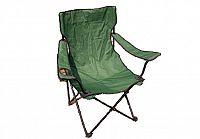 Skládací židle s držákem zelená, P53