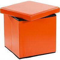 STILISTA 30650 Taburet s úložným prostorem, oranžová