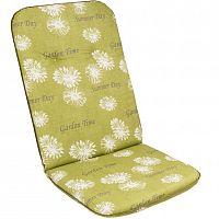 sun garden 54704 Sedák na vysoké křeslo SCALA HOCH zelená květina 30368-211
