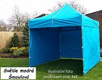 Tradgard PROFI STEEL 56932 Zahradní párty stan 3 x 4,5 - světle modrá