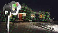 Vánoční laserový projektor - zelená/červená SVÁTEČNÍ - 20 x 20 m s časovačem AT53750