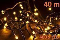Vánoční LED osvětlení 40 m - teple bílé, 400 diod D28391