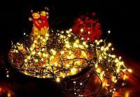 Vánoční LED osvětlení 40 m - teple bílé, 400 LED s časovačem D33555