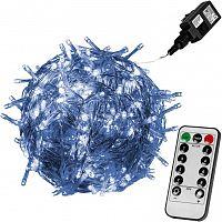 Vánoční LED osvětlení 60 m - studená bílá 600 LED + ovladač