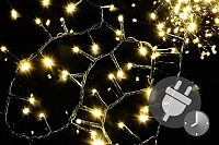 Vánoční LED osvětlení 750 diod - bohatý řetěz - teple bílá 15 m