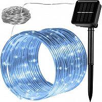 VOLTRONIC® 59614 solární světelná hadice, 100 LED, studená bílá