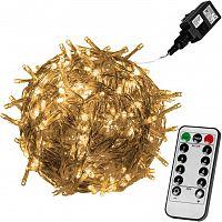 VOLTRONIC® 59734 Vánoční LED osvětlení 60 m - teple bílá 600 LED + ovladač