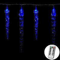 VOLTRONIC® 60008 Vánoční dekorativní osvětlení - rampouchy - 40 LED modrá + ovladač