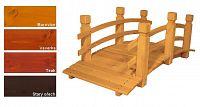 Zahradní dřevěný most - s povrchovou úpravou - 149 cm