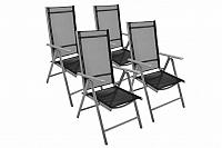 Zahradní sada 4 skládací židle GARTHEN - černá D07353