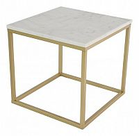 Accent - Konferenční stolek, čtverec (mramor, hnědá)