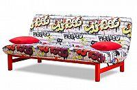 Clic Clac-rozkládací (red grafitti-hlavní látka/metal-nohy)