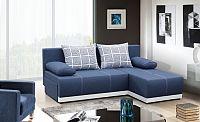 Rohová sedačka rozkládací Picolo II univerzální roh ÚP modrá