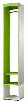 Sonia - šatní skříň (bílá/zelená)