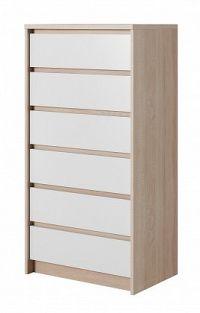 Xelo - Komoda 62,3x121,3x40,5 cm sonoma, bílá