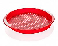 BANQUET Tác protiskluzový plastový prům. 40 x 4 cm, červený