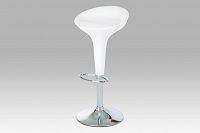 Barová židle bílá plast AUB-9002 WT