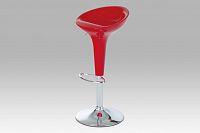 Barová židle červená plast  AUB-9002 RED